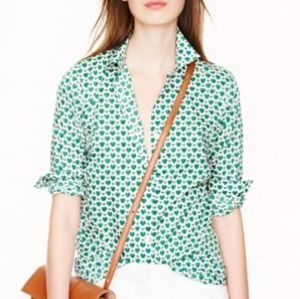 J. Crew Perfect Shirt in Honeypie Print 2